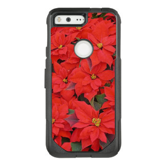Red Poinsettias I Christmas Holiday Floral Photo OtterBox Commuter Google Pixel Case