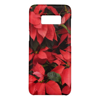 Red Poinsettias II Pretty Christmas Holiday Floral Case-Mate Samsung Galaxy S8 Case