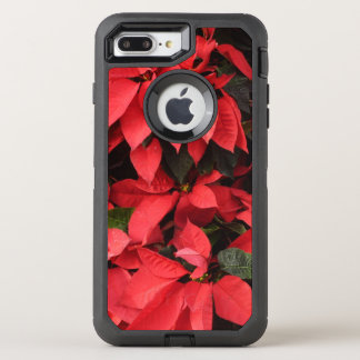 Red Poinsettias II Pretty Christmas Holiday Floral OtterBox Defender iPhone 8 Plus/7 Plus Case