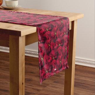 Red Poinsettias Medium Table Runner