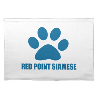 RED POINT SIAMESE CAT DESIGNS PLACEMAT