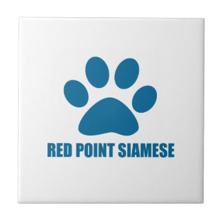 RED POINT SIAMESE CAT DESIGNS TILE