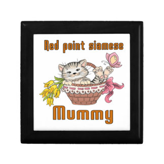 Red point siamese Cat Mom Gift Box
