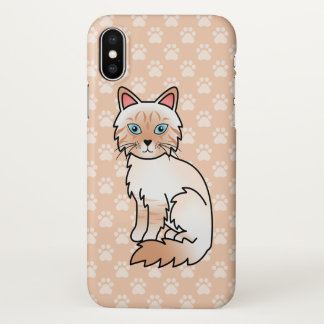 Red Point Tabby Birman / Ragdoll Cat Drawing iPhone X Case