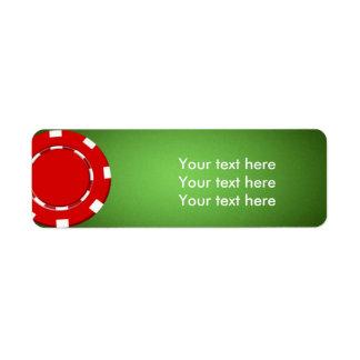 Red poker chip casino address return labels