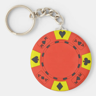 Red Poker Chip Keychain