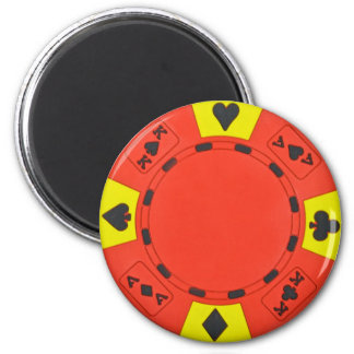 Red Poker Chip Magnet