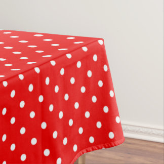 Red polka do tablecloth