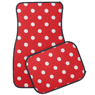 Red Polka Dot Car Mat
