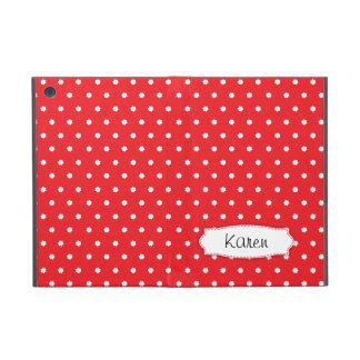 Red polka dot flowers name ipad mini powis case cases for iPad mini