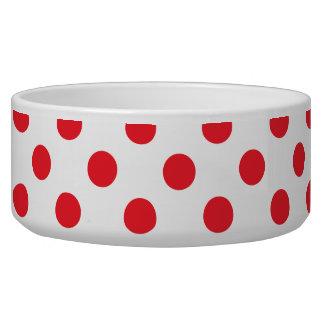 Red Polka Dot Food Bowl