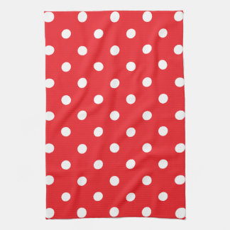 Red Polka Dot Kitchen Towel