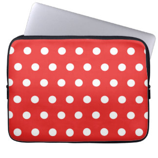 Red Polka Dot Laptop Computer Sleeve