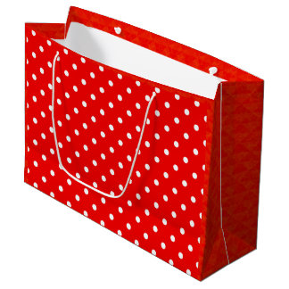 Red polka dot large gift bag