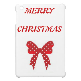 Red Polka Dot Merry Christmas Case For The iPad Mini