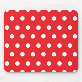 Red Polka Dot Mouse Pad