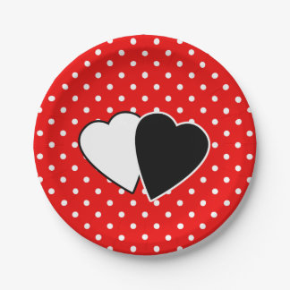 Red polka dot paper plate