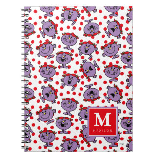 Red Polka Dot Pattern | Add Your Name Spiral Notebook