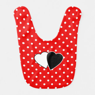 Red polka dot red baby bibs