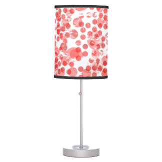 Red Polka Dot spots pattern Table Lamp