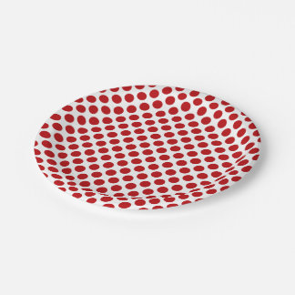 Red Polka Dots 7 Inch Paper Plate