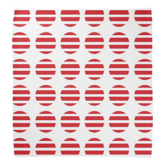 Red Polka Dots and Stripes Bandana