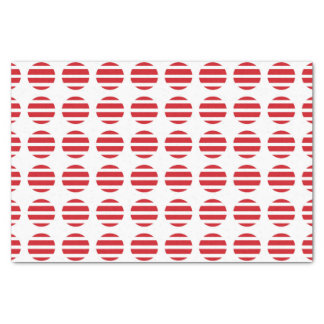 Red Polka Dots and Stripes Tissue Paper