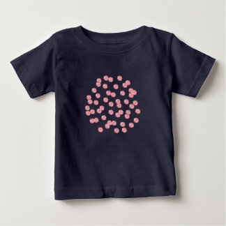 Red Polka Dots Baby Lap T-Shirt