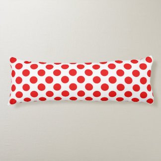 Red Polka Dots Body Pillow