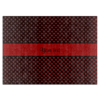 Red Polka Dots Cutting Board