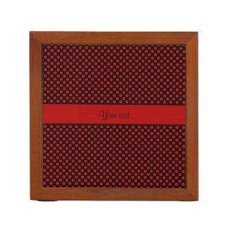 Red Polka Dots Desk Organizer