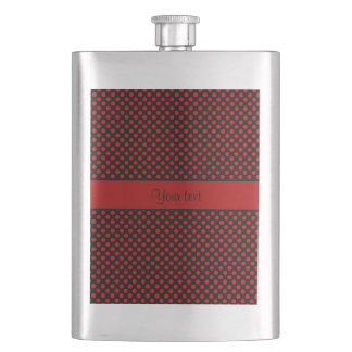 Red Polka Dots Hip Flask
