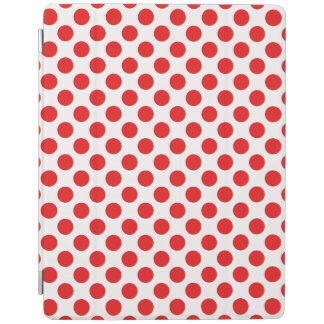 Red Polka Dots iPad Cover