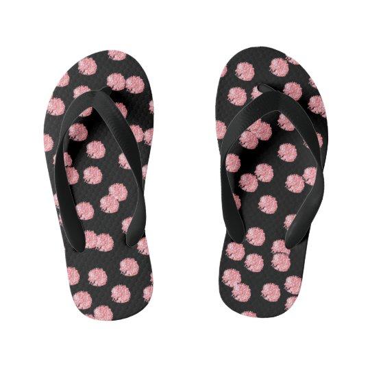 Red Polka Dots Kids' Flip Flops