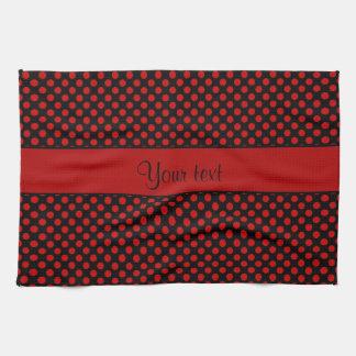 Red Polka Dots Kitchen Towel