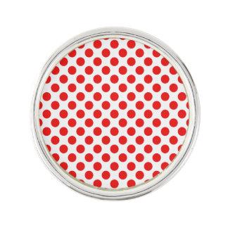 Red Polka Dots Lapel Pin