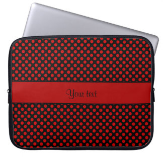 Red Polka Dots Laptop Sleeve