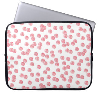 Red Polka Dots Laptop Sleeve 15''