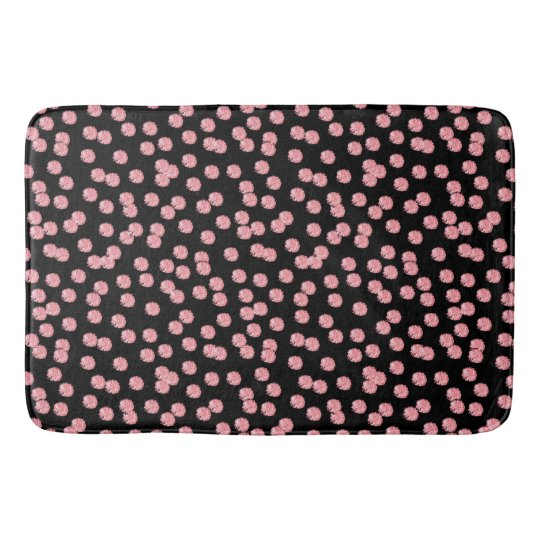 Red Polka Dots Large Bath Mat