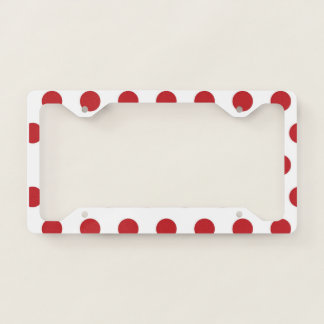Red Polka Dots License Plate Frame