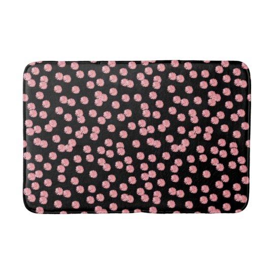 Red Polka Dots Medium Bath Mat