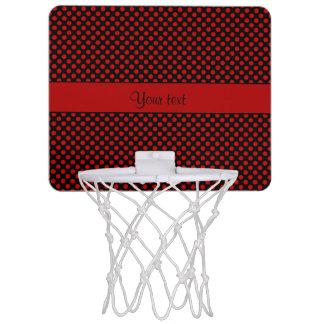 Red Polka Dots Mini Basketball Hoop