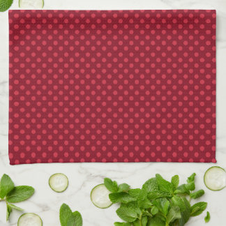 Red Polka Dots on Red Kitchen Towel