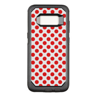 Red Polka Dots OtterBox Commuter Samsung Galaxy S8 Case