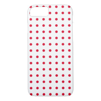 red polka dots pattern iPhone 7 case