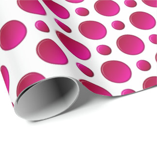 Red polka dots pattern wrapping paper