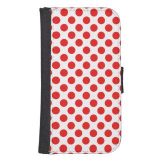 Red Polka Dots Samsung S4 Wallet Case