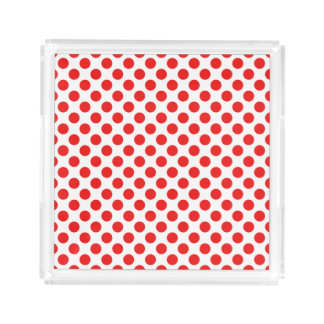 Red Polka Dots Serving Tray