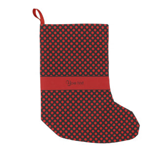 Red Polka Dots Small Christmas Stocking