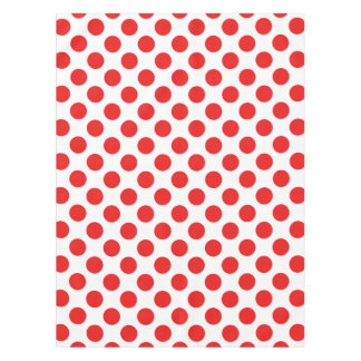 Red Polka Dots Tablecloth